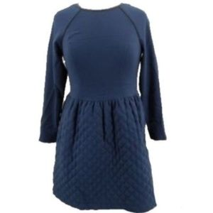 Asos Petite Dress Size 8P Navy Blue Quilted